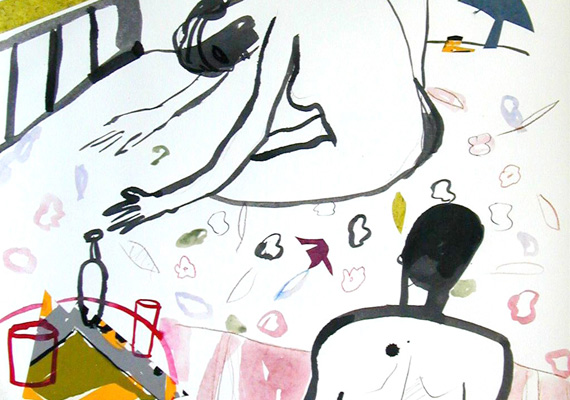 2006, Mixed Media on paper, 90 x 70 cm